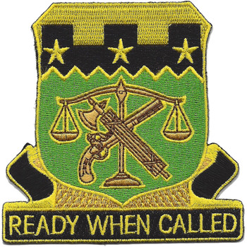105th Military Police Battalion Patch