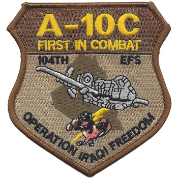 104th Expeditionary Flight Sqadron A-10C Operation Iraqi Freedom Patch