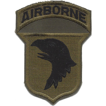 101st Airborne Division Patch Screaming Eagles OD - Version  C