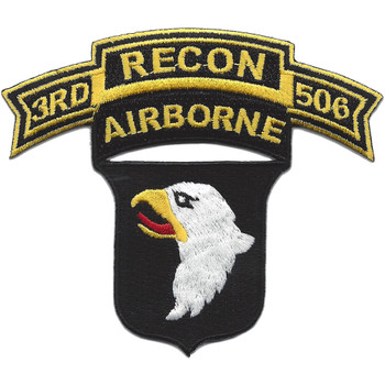 101st Airborne Division 506th Airborne Infantry Regiment 3rd Battalion Recon Patch