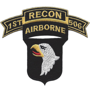 101st Airborne Division 506th Airborne Infantry Regiment 1st Battalion Recon Patch