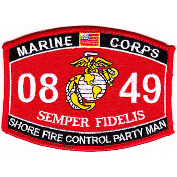 0849 Shore Fire Control Party Man MOS Patch