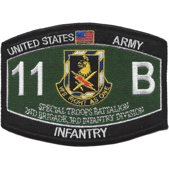 11th Bravo Special Troop Battalion Military Occupational Specialty MOS Patch Infantry