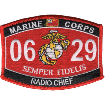 0629 Radio Chief MOS Patch
