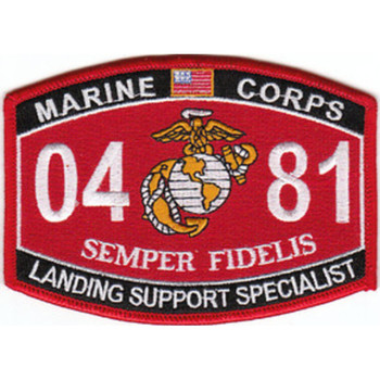 0481 Landing Support Specialist MOS Patch