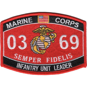 0369 Infantry Unit Leader MOS Patch