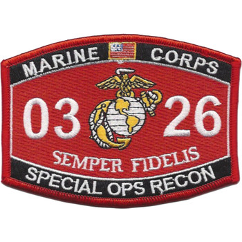 0326 Special Ops Recon MOS Patch