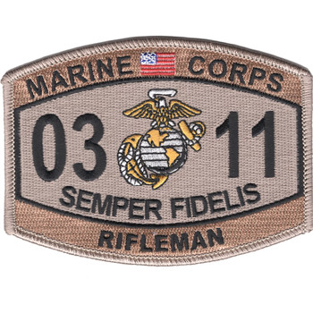 0311 Rifleman MOS Patch Desert