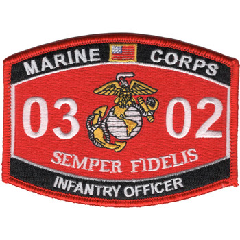 0302 Infantry Officer MOS Patch