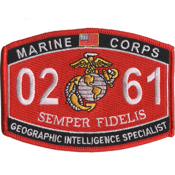 0261 Geographic Intelligence Specialist MOS Patch