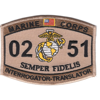 0251 Interrogator Translator MOS Patch Desert