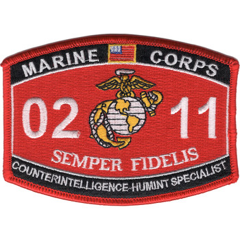 0211 Counterintelligence Humint Specialist MOS Patch