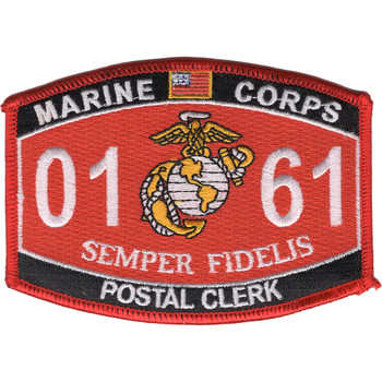 0161 Postal Clerk MOS Patch