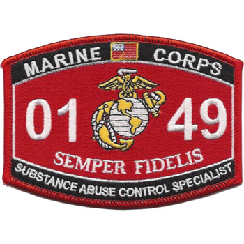0149 Substance Abuse Control Specialist MOS Patch