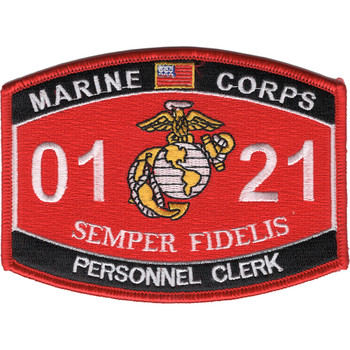 0121 Personnel Clerk MOS Patch