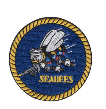 Seabees Small Version Patch - United States Naval Construction Battalions