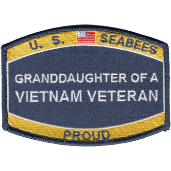 Seabees Grand-Daughter Of A Vietnam Veteran Patch