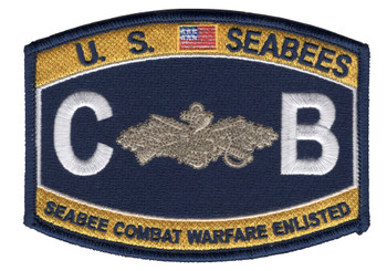 Seabee Combat Warfare Badge Enlisted Patch