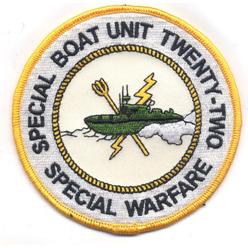 SBU-22 Special Boat Unit Two Two Patch Color Special Warfare