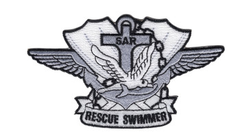 SAR Search & Rescue Swimmer Silver Badge Patch