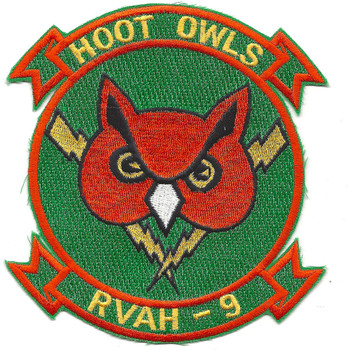 RVAH 9 Heavy Reconnaissance Attack Squadron Nine Patch