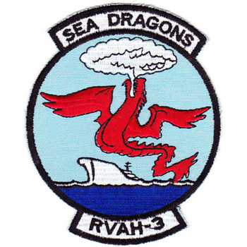 RVAH-3 Reconnaissance Attack Squadron Patch SEA DRAGONS