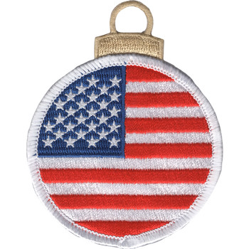 Round Flag Christmas Tree Ornament