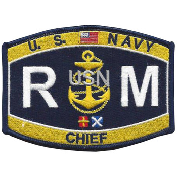 RMC Chief Radioman Patch RMC