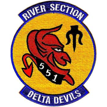 Rivsec 551 River Assault Section Patch Delta Devils