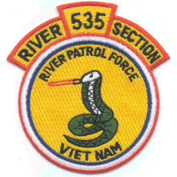 Rivsec 535 River Section Patch River Patrol Force Viet Nam