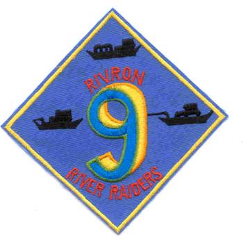 Rivron 9 Naval River Squadron Nine Round Patch River Raiders
