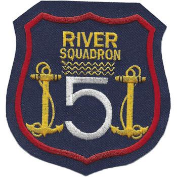 Rivron 5 Naval River Squadron Five Patch