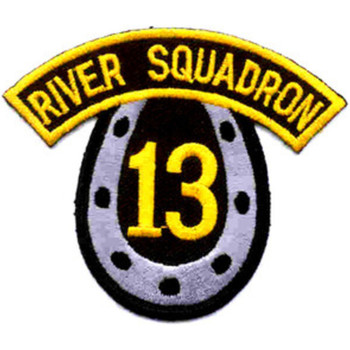 Rivron 13 River Assault Squadron Thirteen Patch Horseshoe