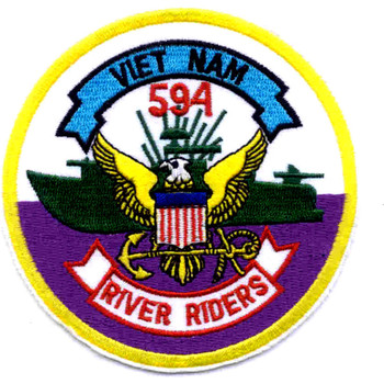 RIVDIV 594 River Division Patch Viet Nam River Riders