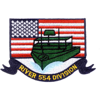 RIVDIV 554 River Division Patch Flag