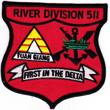 RIVDIV 511 River Division Patch Tuan Giang First In The Delta