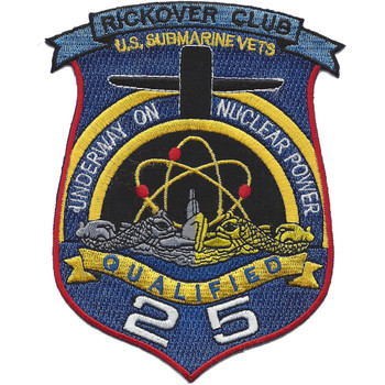 Rickover Club Submarine Vets Qualified 25 Patch