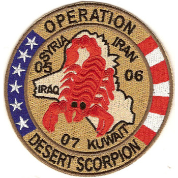 Operation Desert Scorpion Patch Red