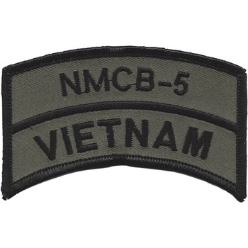 NMCB-5 Vietnam OD Patch