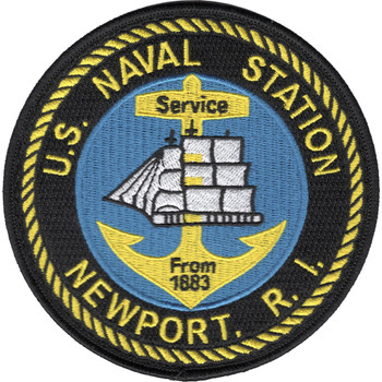 Newport Naval Station Rhode Island Patch