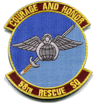58th Rescue Squadron Patch Hook and Loop