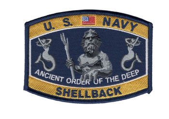 Navy Shellback King Neptune Hat Patch