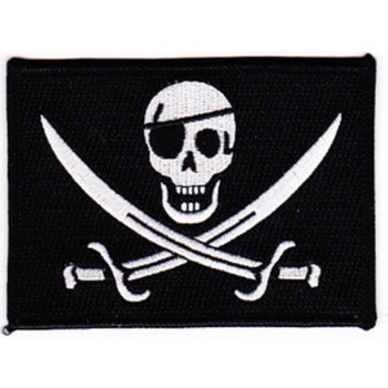 Navy Seal 1 Eye Calico Jack Pirate ACU Patch