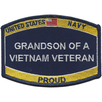 Navy Grandson Of A Vietnam Veteran Patch