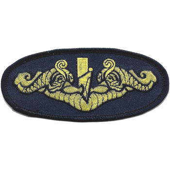 Navy Gold Dolphins Large Version Patch