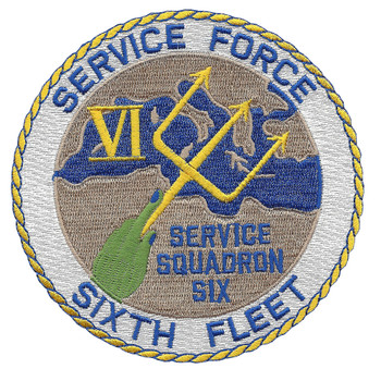 Service Squadron Six - Sixth Fleet PatchService Squadron Six - Sixth Fleet Patch