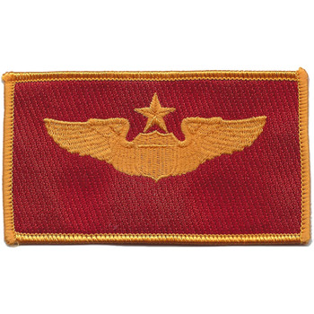 Senior Pilot Wings Patch Red And Gold