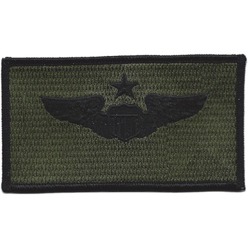 Senior Pilot Wings Patch Black OD