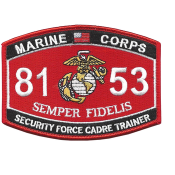 Security Force Cadre Trainer 8153 MOS Patch