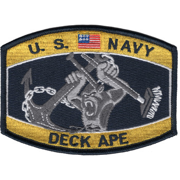 Navy Deck Ape Boatswain's mate Hat Patch